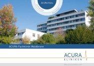 ACURA Fachklinik Waldbronn - ACURA SIGEL Klinik - Acura Kliniken
