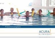 Präventionsangebote - ACURA SIGEL Klinik - Acura Kliniken