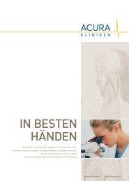 In besten Händen - ACURA SIGEL Klinik - Acura Kliniken