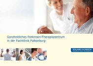 Ganzheitliches Parkinson-Therapiezentrum in der Fachklinik ...