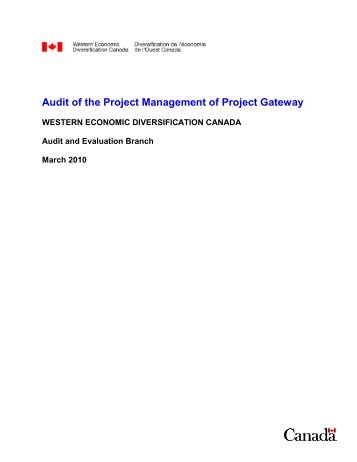 PDF version of Audit of the Project Management of the Project ...
