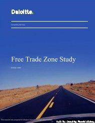 Free Trade Zone Study - Diversification de l'économie de l'Ouest ...