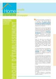 Projet d'établissement - Le Home des Flandres