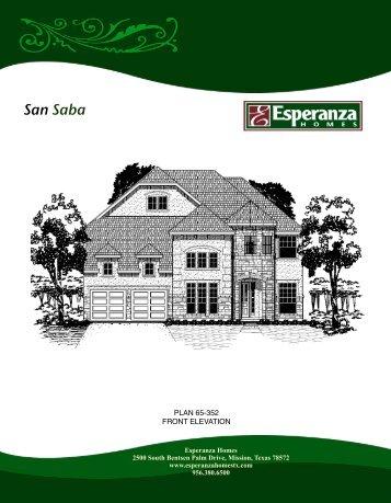 San Saba Floor Plan - Esperanza Homes