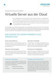 Virtuelle Server aus der Cloud - ADACOR Hosting GmbH