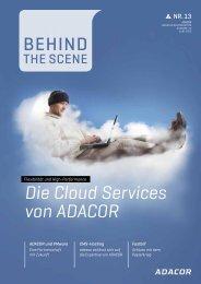 Die Cloud Services von ADACOR - ADACOR Hosting GmbH