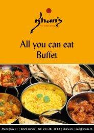 All you can eat Buffet - Khan's