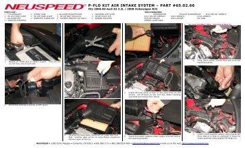 P-FLO KIT AIR INTAKE SYSTEM – PART #65.02.66 - Neuspeed