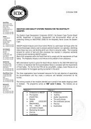 13 October 2008 HACCP/ISO 22000 QUALITY SYSTEMS ...