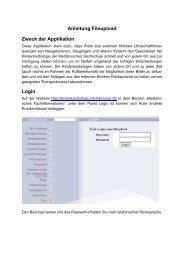 Anleitung Fileupload Zweck der Applikation Login - Kinderkardiologie