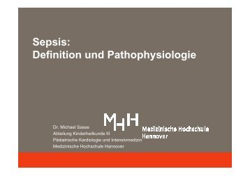 Pathophysiologie Sepsis - Medizinische Hochschule Hannover