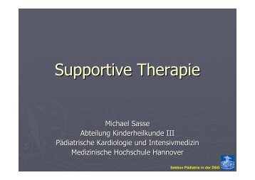 Supportive Therapy - Medizinische Hochschule Hannover