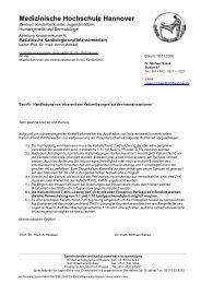 Kalium Intensivstation - Medizinische Hochschule Hannover