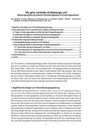 Belastungsregulation für Lehrkräfte, mit Literatur. - Gesundheit und ...