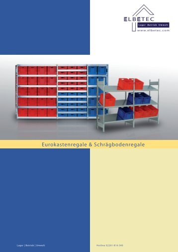 LB TEC Eurokastenregale & Schrägbodenregale