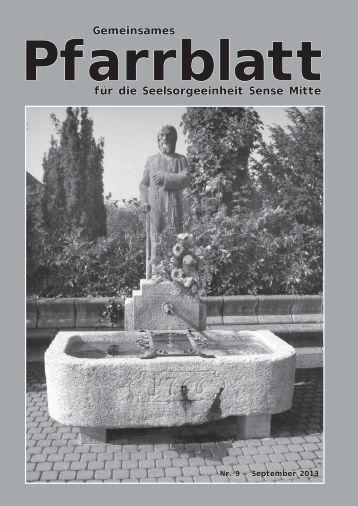 Pfarrblatt September 2013 - Pfarrei Heitenried
