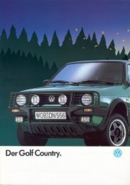 Der Golf Couniry. - VW Golf Country - Fansite