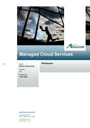 Managed Cloud Services - ADACOR Hosting GmbH