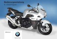 Bedienungsanleitung K 1200 R Sport - BMW-K-Forum.de
