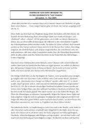 Ansprache Papst Benedikts XVI. in Yad Vashem