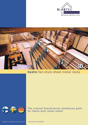 LB TEC hydro fan-style sheet metal racks - ELBETEC GmbH & Co. KG
