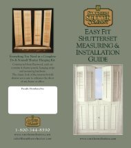 Easy-Fit Shutterset Guide - Southern Shutter Company