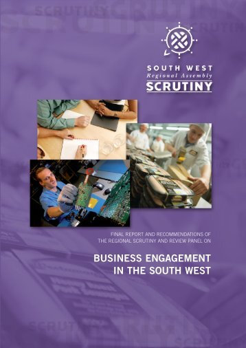 Business Engagement in the South West - Final Report - PDF format