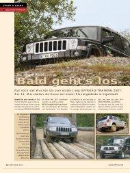 Bald geht's los Bald geht's los - OFF ROAD :: Das 4x4 Magazin für ...