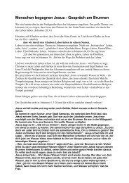 Teil 3 - Menschen begegnen Jesus - Gespr ... - FeG Wienhausen