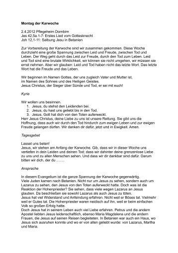 Montag der Karwoche - Helmut Theodor Rohner