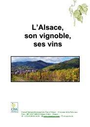 L'Alsace, son vignoble, ses vins - Les Vins d'Alsace