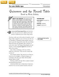 Guinevere and the Round Table - J-blanchard.org