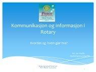 Kommunikasjon og informasjon i Roatry - Distrikt 2305