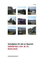 Detaljplan för del av Sparsör GINGRI-KIL 1:101 M. FL. Borås Stad