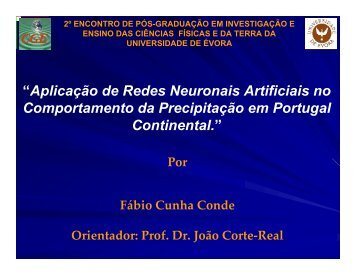 3. Previsão da precipitação para Portugal continental através de ...