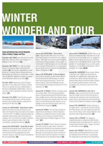 swiss mountain rail journey - Great Trains of Europe Tours