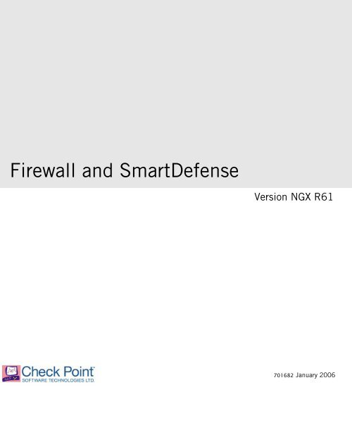 Firewall and SmartDefense - Check Point