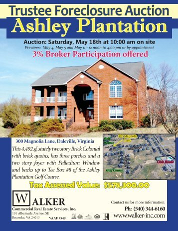 Ashley Plantation.indd - Walker Commercial Services, Inc.