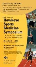 Hawkeye Sports Medicine Symposium - Athletic Training at Iowa