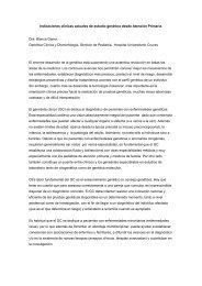 Indicaciones clínicas actuales de estudio genético desde Atención ...