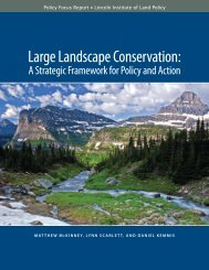Large Landscape Conservation: - Center for Natural Resources and ...