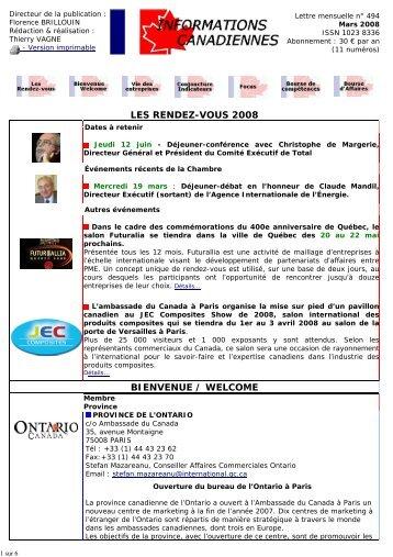 Projet Invitation     Chambre De Commerce FranceCanada