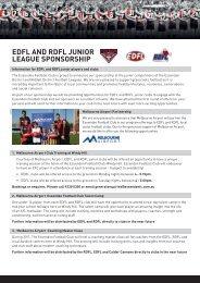 edfl and rdfl junior league sponsorship - Essendon District Football ...