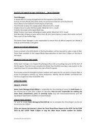 Match Day Officials Duties - Essendon District Football League