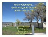 You're Grounded… G d S t D i Ground System Design and its role in ...