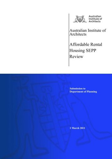 Affordable Rental Housing SEPP Review - Australian Institute of ...