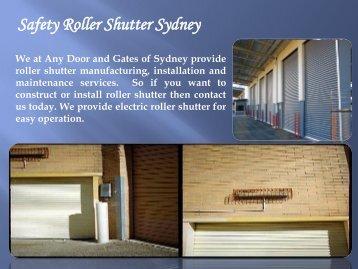 Safety Roller Shutter Sydney