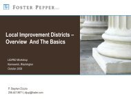 Local Improvement Districts – Overview And The Basics - APWA