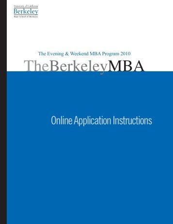 HAAS-ewmba applic 5a.indd - Berkeley MBA - University of ...