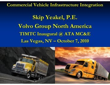 Commercial Vehicle Infrastructure Integration - Trucking Industry ...